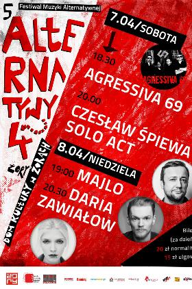 """V Festiwal Muzyki Alternatywnej """"Alternatywy 4"""" Kliknięcie w obrazek spowoduje wyświetlenie jego powiększenia"""